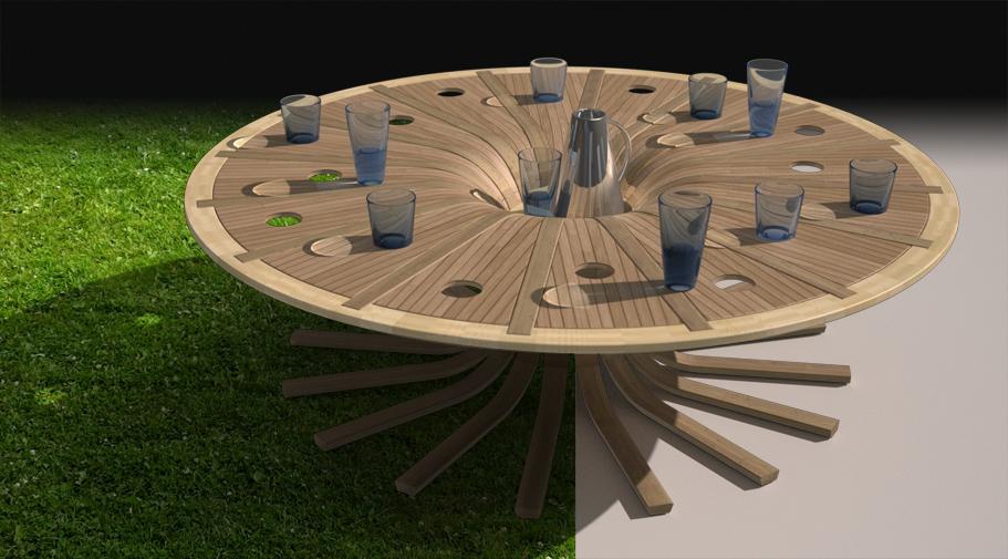 table basse intérieur-extétieur