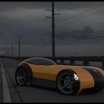 Sports car design 3d