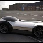 3D Roadster car
